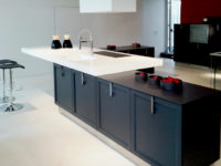 Vasque central solid surface